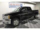 2012 Black Chevrolet Silverado 1500 LT Extended Cab 4x4 #61761926