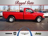 2010 Inferno Red Crystal Pearl Dodge Ram 1500 ST Regular Cab 4x4 #61761913