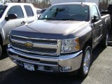 2012 Mocha Steel Metallic Chevrolet Silverado 1500 LT Regular Cab 4x4 #61760949