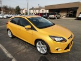 2012 Yellow Blaze Tricoat Metallic Ford Focus Titanium 5-Door #61761275