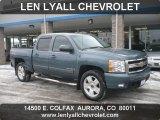 2007 Blue Granite Metallic Chevrolet Silverado 1500 LTZ Crew Cab 4x4 #61761269