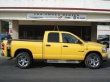 2008 Detonator Yellow Dodge Ram 1500 Big Horn Edition Quad Cab 4x4 #61761265