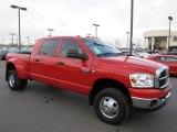 2007 Flame Red Dodge Ram 3500 SLT Mega Cab 4x4 Dually #61833350