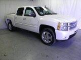 2012 White Diamond Tricoat Chevrolet Silverado 1500 LTZ Crew Cab 4x4 #61833343