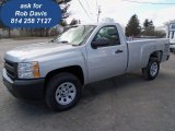 2012 Silver Ice Metallic Chevrolet Silverado 1500 Work Truck Regular Cab 4x4 #61833194