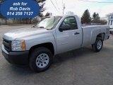 2012 Silver Ice Metallic Chevrolet Silverado 1500 Work Truck Regular Cab 4x4 #61833194