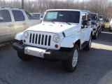 2012 Bright White Jeep Wrangler Sahara 4x4 #61833385