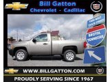 2012 Graystone Metallic Chevrolet Silverado 1500 Work Truck Regular Cab #61868705