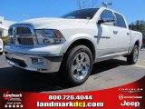 2012 Bright White Dodge Ram 1500 Laramie Crew Cab 4x4 #61868303