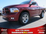2012 Deep Cherry Red Crystal Pearl Dodge Ram 1500 Express Regular Cab #61868300