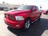 2012 Flame Red Dodge Ram 1500 Sport Crew Cab 4x4 #61868488