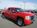 2011 Victory Red Chevrolet Silverado 1500 LS Extended Cab 4x4 #61908371
