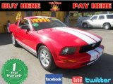 2005 Torch Red Ford Mustang V6 Deluxe Coupe #61908477