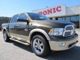 2012 Sagebrush Pearl Dodge Ram 1500 Laramie Longhorn Crew Cab 4x4 #61908147