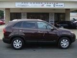 2011 Dark Cherry Kia Sorento LX V6 AWD #61966408