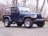 2001 Jeep Wrangler Patriot Blue Pearl