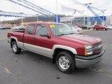 2005 Sport Red Metallic Chevrolet Silverado 1500 Z71 Extended Cab 4x4 #61966234