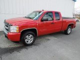 2007 Victory Red Chevrolet Silverado 1500 LT Extended Cab #61966976