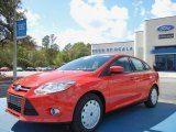 2012 Race Red Ford Focus SE SFE Sedan #62036286