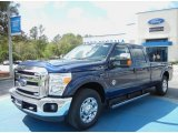 2012 Dark Blue Pearl Metallic Ford F250 Super Duty XLT Crew Cab #62036283