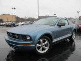 2007 Windveil Blue Metallic Ford Mustang V6 Deluxe Coupe #62036259