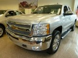 2012 Silver Ice Metallic Chevrolet Silverado 1500 LT Extended Cab 4x4 #62036911