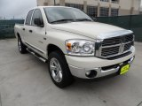 2008 Cool Vanilla White Dodge Ram 1500 Lone Star Edition Quad Cab 4x4 #62036494