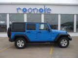 2011 Cosmos Blue Jeep Wrangler Unlimited Rubicon 4x4 #62036397