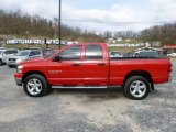 Flame Red Dodge Ram 1500 in 2007