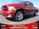 2012 Deep Cherry Red Crystal Pearl Dodge Ram 1500 Express Quad Cab #62036370