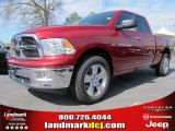2012 Deep Cherry Red Crystal Pearl Dodge Ram 1500 Big Horn Quad Cab #62036362