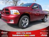 2012 Deep Cherry Red Crystal Pearl Dodge Ram 1500 Express Quad Cab #62036360