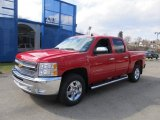2012 Victory Red Chevrolet Silverado 1500 LT Crew Cab 4x4 #62097803