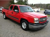 2004 Victory Red Chevrolet Silverado 1500 LS Extended Cab #62097785