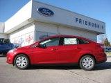 2012 Red Candy Metallic Ford Focus SE Sedan #62097770