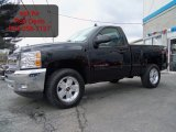 2012 Black Chevrolet Silverado 1500 LT Regular Cab 4x4 #62097742