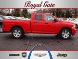 2012 Flame Red Dodge Ram 1500 Express Quad Cab 4x4 #62098400