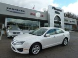 2010 White Platinum Tri-coat Metallic Ford Fusion SE V6 #62098101