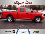 2012 Flame Red Dodge Ram 1500 Express Quad Cab 4x4 #62097690