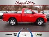 2012 Flame Red Dodge Ram 1500 Express Regular Cab #62097689