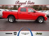 2012 Flame Red Dodge Ram 1500 Express Crew Cab 4x4 #62097688