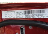 2010 Ram 3500 Color Code for Inferno Red Crystal Pearl - Color Code: PRH