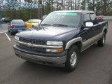 2002 Indigo Blue Metallic Chevrolet Silverado 1500 LS Extended Cab 4x4 #62098248
