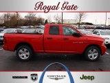 2012 Flame Red Dodge Ram 1500 Express Quad Cab 4x4 #62159358