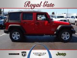 2012 Flame Red Jeep Wrangler Unlimited Sport S 4x4 #62159035