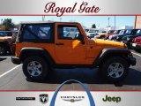 2012 Dozer Yellow Jeep Wrangler Rubicon 4X4 #62159029