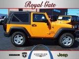 2012 Dozer Yellow Jeep Wrangler Sport S 4x4 #62159028