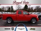 2012 Flame Red Dodge Ram 1500 Express Quad Cab #62159025