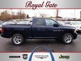 2012 True Blue Pearl Dodge Ram 1500 Express Quad Cab 4x4 #62159024