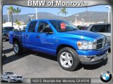 2007 Electric Blue Pearl Dodge Ram 1500 Big Horn Edition Quad Cab #62159151